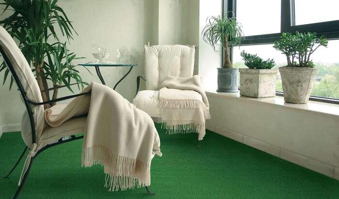 Искусственный газон как изюминка дизайна интерьера