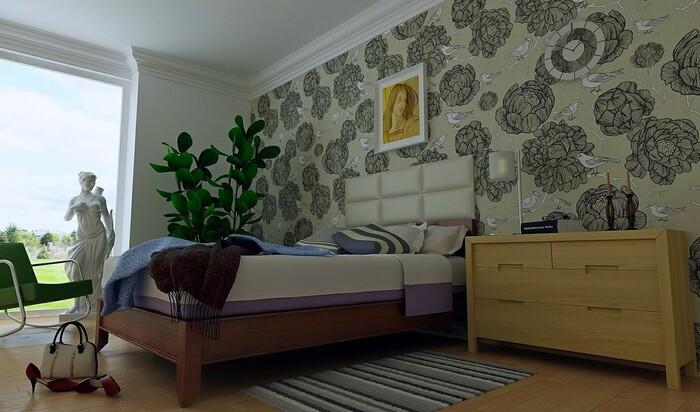Альтернатива обоям и покрашенными стенам в интерьере спальни