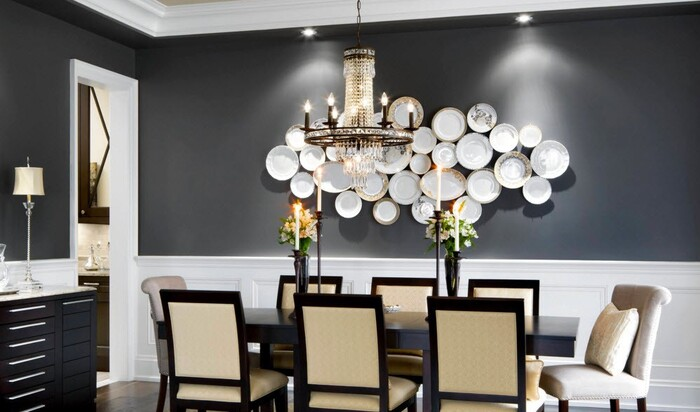 Декорирование стен при помощи тарелок — новая тенденция из старой традиции