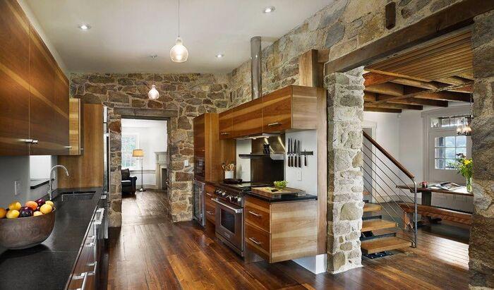 Декоративный камень для внутренней отделки кухни