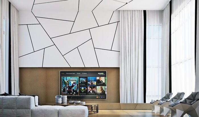 Геометрический узор на стене своими руками для создания необычного акцента в комнате
