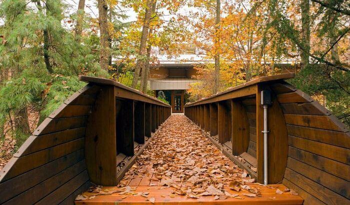 Пример оригинальной архитектуры: дом со встроенным бассейном