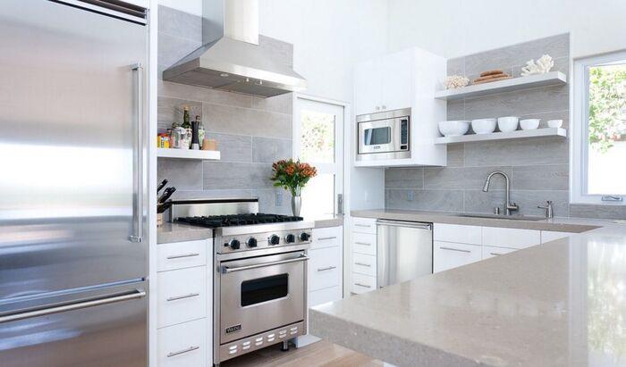 Виды укладки плитки в ванной и на кухне