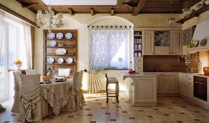 Дизайн кухни в деревенском доме: как самостоятельно подобрать декор в стиле кантри?