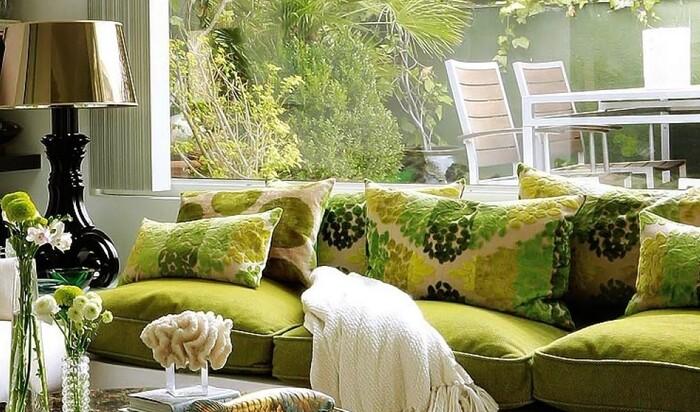Интерьер в оливковых цветах: фотоподборка