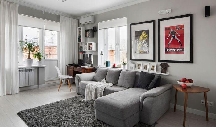 Как увеличить пространство маленькой квартиры-студии?