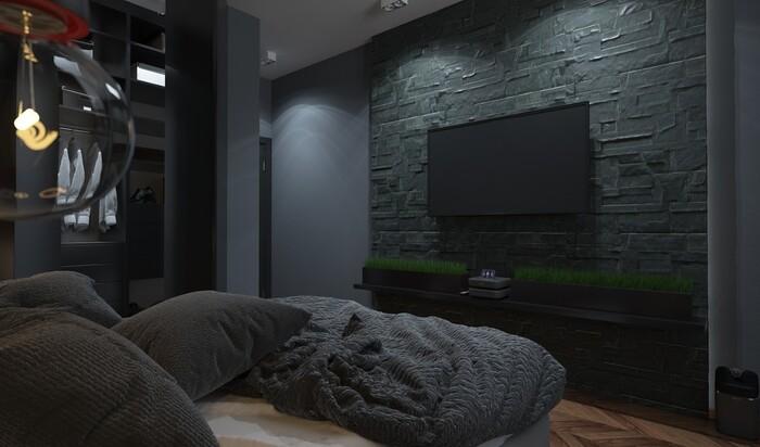 «Мужские» идеи для дизайна спальни: логово холостяка