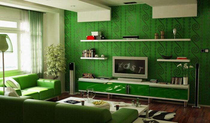 Зеленый цвет в интерьере: эко-дизайн или просто приятный оттенок?