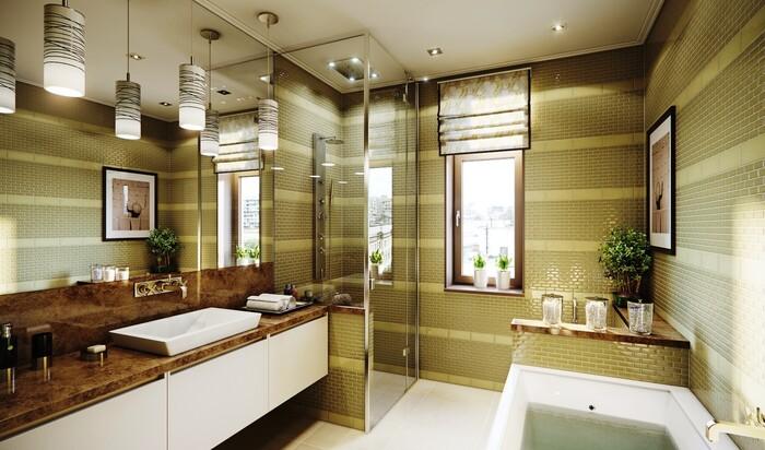 Как украсить большую ванную комнату?