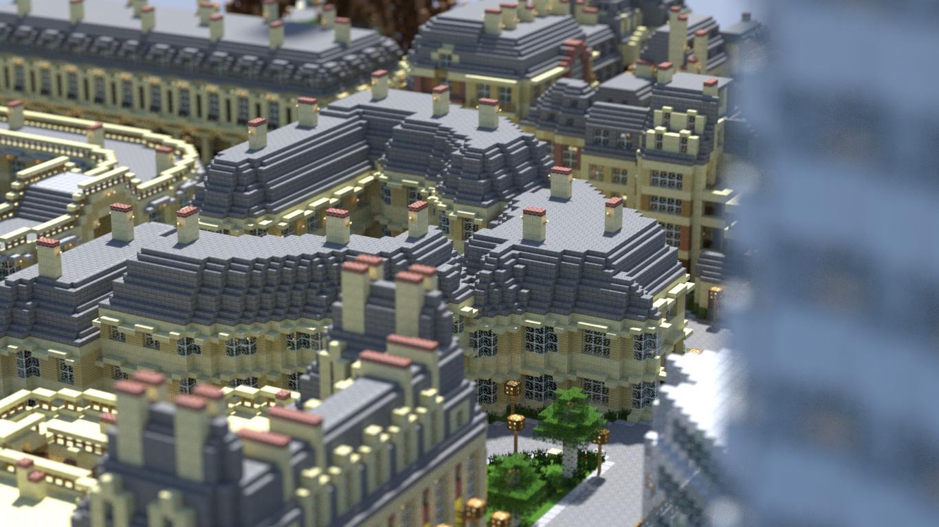 Скачать карту Эйфелева Башня для Minecraft