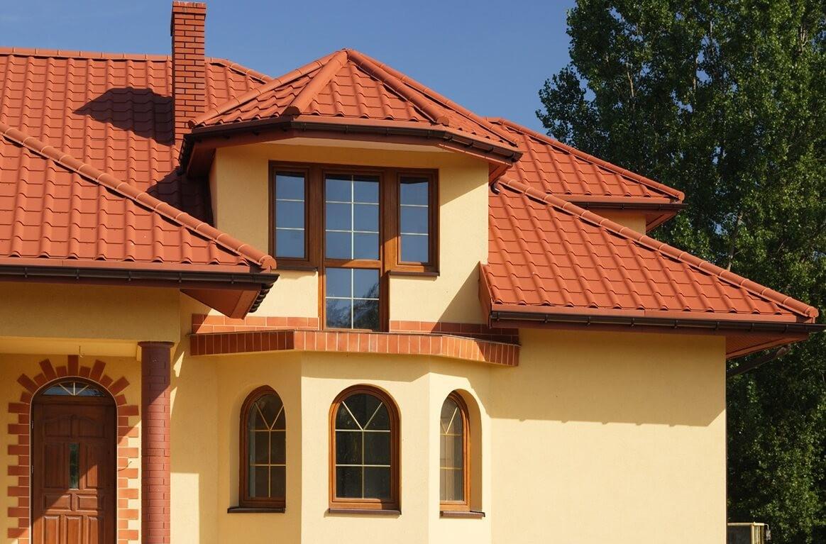 Сочетание цветов дома с крышей