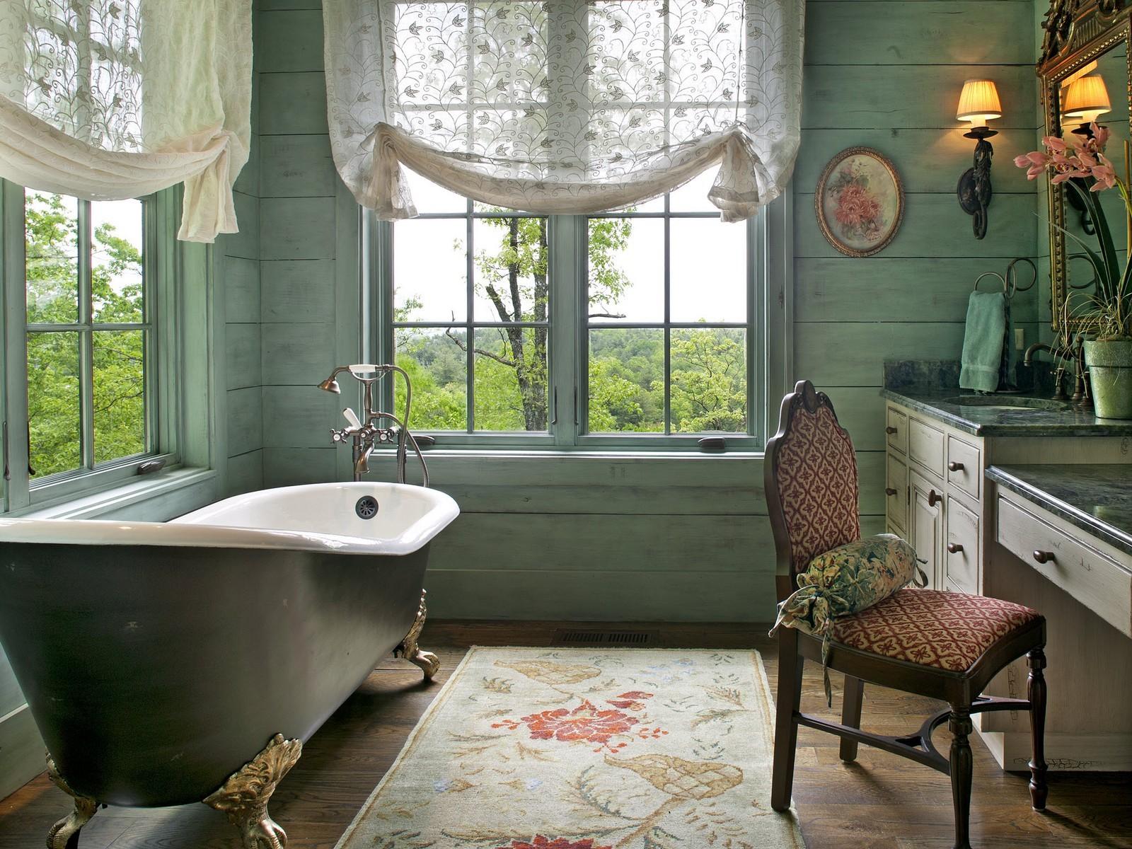 Ванная с окном дизайн