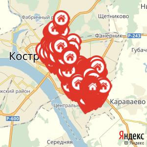 Карта: Горячее водоснабжение