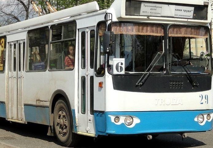 С нового года в Костроме возобновляется движение троллейбусов маршрута № 6