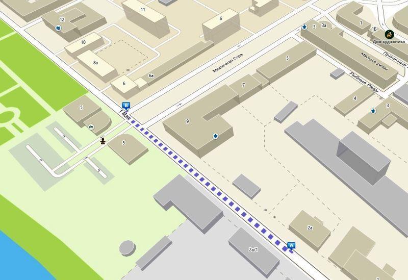 В Костроме вводятся временные ограничения движения транспорта на участке улицы 1 Мая