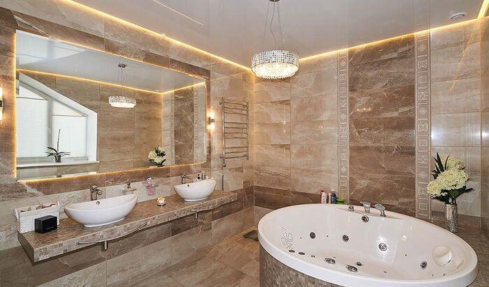Каким должен быть потолок в ванной комнате