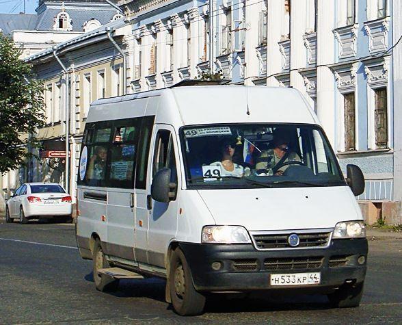 В Костроме временно изменится путь следования автобусов муниципального маршрута № 49